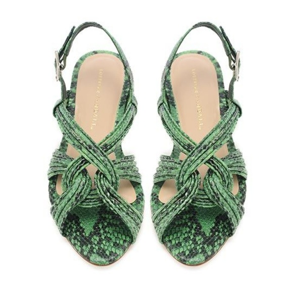6f353cf124a8b Loeffler Randall Shoes   Green Snakeskin Sandals   Poshmark